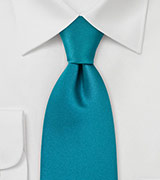 Solid XL Tie in Jade Green