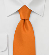 Bright Pumpkin Orange Extra Long Tie