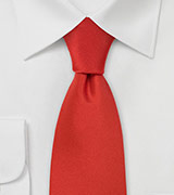 Solid Scarlet Red Tie in XL