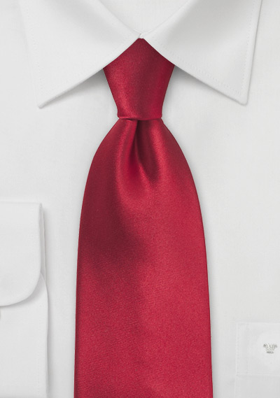 Cherry Red Mens Tie in XL