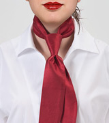 Cherry Red Women's Neck Tie