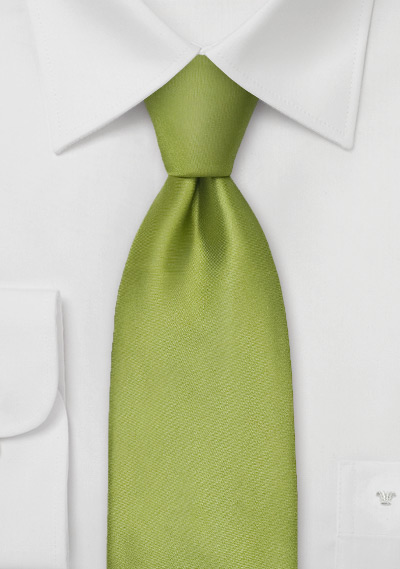 Extra Long Necktie<br>Sage green silk tie