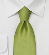 Extra Long Necktie Sage green silk tie
