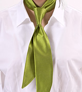 Solid Sage Green Womens Neck Tie