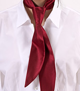 Dark Cherry Red Womens Tie