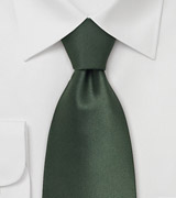 Dark Green Neckties Solid Hunter Green Silk Tie
