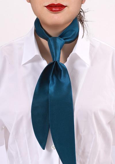 Turquoise Silk Blouse