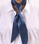 Womens Tie in Steel-Blue