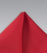 Solid Color Red Silk Pocket Square
