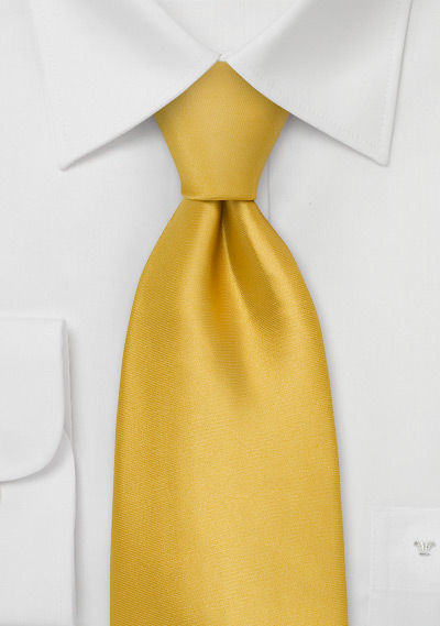 goldenyellow silk tie