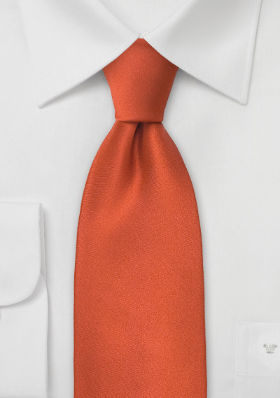 Solid Kids Tie in Persimmon-Orange