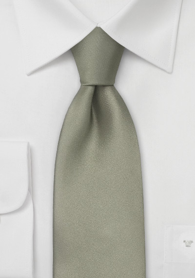 Dark Sage Green Kids Silk Tie