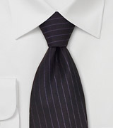 Purple Gray Silk Tie