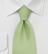 Bright Green Silk Tie