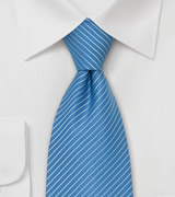 Cornflower Blue Striped Tie