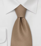 Brown Neckties Elegant Tie in a Latte-Brown Color