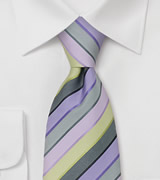 Lilac, Purple, and Lime Green Necktie