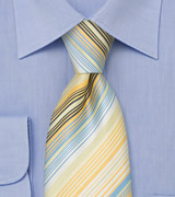 Yellow and Baby Blue Necktie