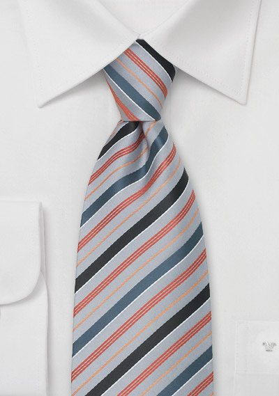 silver neckties striped tie in silverperiwinkle