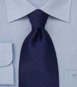 Sapphire Blue and Black Kids Tie