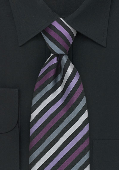 Mens Black Striped Dress Shirt