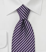 Silk Tie in Purple and Lavender