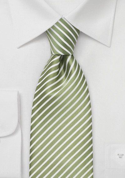 Extra Long Spring Green Necktie