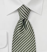Moss Green and White XL Tie