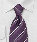 Modern Purple Striped Tie by Cavallieri