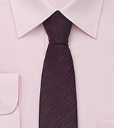 Skinny Necktie in Black and Red