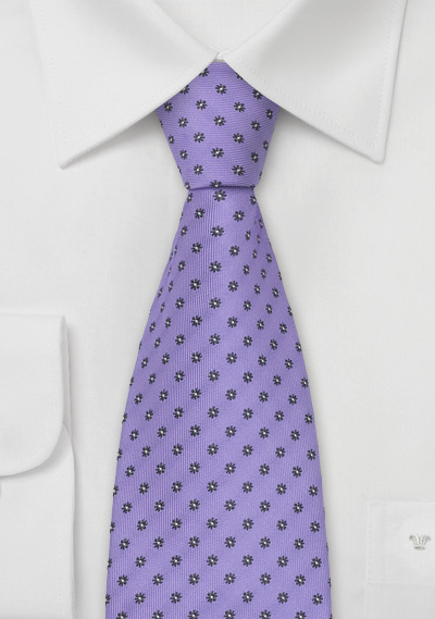 Lavender Floral Tie by Chevalier