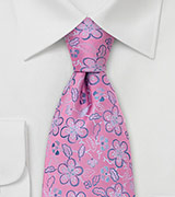 Pink Silk Tie by Chevalier