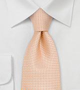 Light Apricot Silk Tie in Extra Long Length