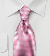 Bright Pink Silk Necktie