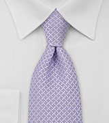 Mens Neck Tie in Mauve Violet