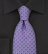 Foulard Silk Tie in Lilac Purple