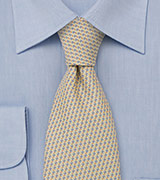 Pastel Yellow and Light Blue Necktie
