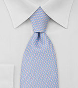 Patterned Tie in Light Blue and Pink