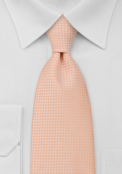 Light Orange Mens Tie in XL Length