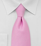 Light Pink Mens Necktie