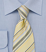 Pastel Yellow Striped Tie