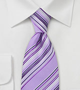Amethyst Purple Striped Tie
