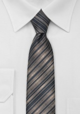 Latte Brown Skinny Tie