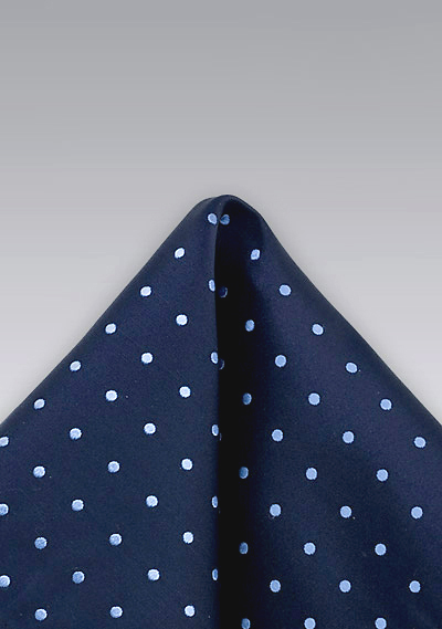 Tonal Blue Polka Dot Pocket Square