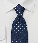 Navy and Light Blue Dotted Tie