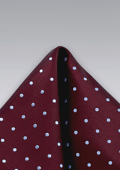 Vintage Burgundy Polka Dotted Pocket Square