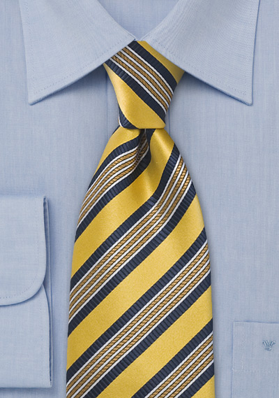 Yellow Gold Striped Tie