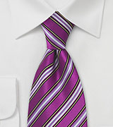 Bright Lavender Striped Tie