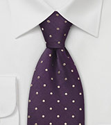 Kid Sized Tie in Eggplant