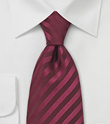 XL Berry Red Silk Tie